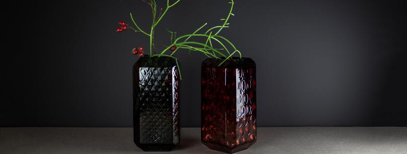 skleněné originální vázy